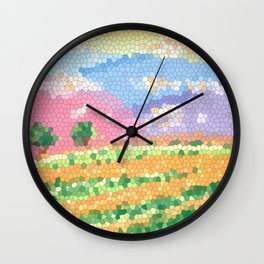Valley of the Orange Prairie Wall Clock
