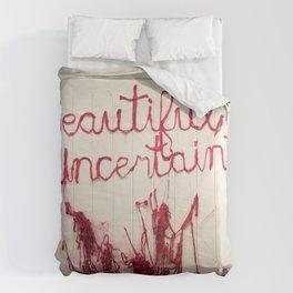 Beautiful Uncertainty, Silk Graffiti by Aubrie Costello Comforters