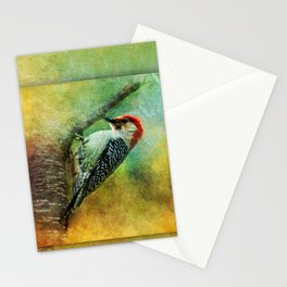 Woodpecker on Cherry Tree ~ Ginkelmier Inspired Stationery Cards