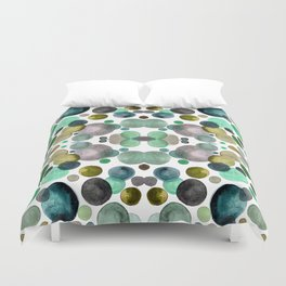 Watercolor circles Duvet Cover