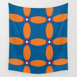 Beautiful four petals flowers...sharing in fact... thei orange petals... Wall Tapestry