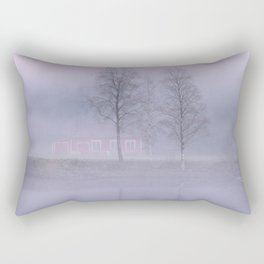 The red house in the fog Rectangular Pillow