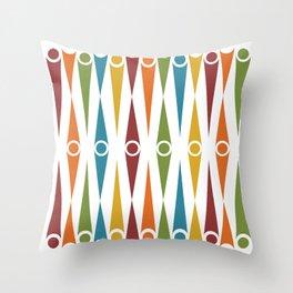 Mid-Century Pattern No. 48 Throw Pillow