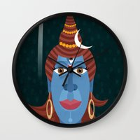 transformer Wall Clocks featuring Lord Shiva - Transformer or Destroyer by quackdesigns