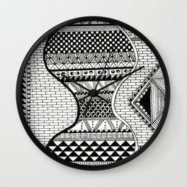 Wavy Geometric Patterns Wall Clock