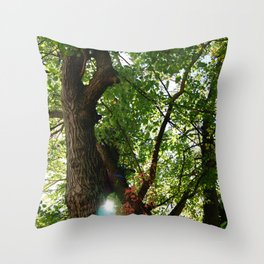 Virginia Forest with Light Shining Through Throw Pillow