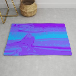 Eye of Tiger Purple - Blue Abstract Vector Texture Rug