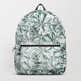 White Diamond Abstract Art Pattern 01 Backpack