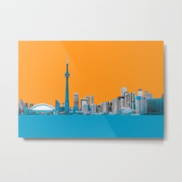 Toronto Delineated Metal Print