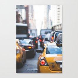 TAXI - CAB - CITY - CARS - PHOTOGRAPHY Canvas Print