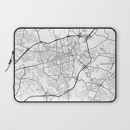 Athens Map, USA - Black and White Laptop Sleeve