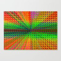 psychedelic Canvas Prints featuring Psychedelic by Debbie Clayton