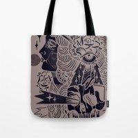 bubblegum Tote Bags featuring Bubblegum by DaggersForTeeth