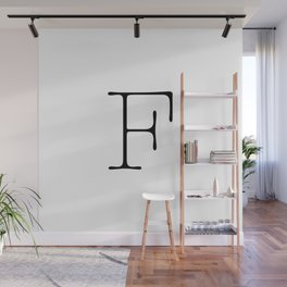 Letter F Typewriting Wall Mural