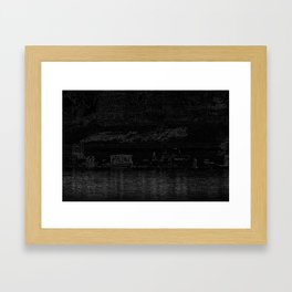 Indian life in Black Framed Art Print