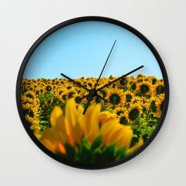 Do as the sunflowers do Wall Clock