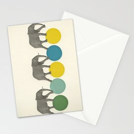Travelling Elephants Stationery Cards