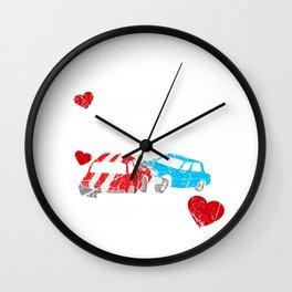 Demolition Derby Car Stole My Heart Gift Wall Clock
