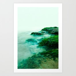 Green Waterscape Art Print