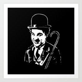 CHARLIE CHAPLIN THE COMIC GENIUS Art Print