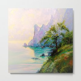 Morning by the sea Metal Print