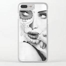 'Dia De Los Muertos Collage' Clear iPhone Case