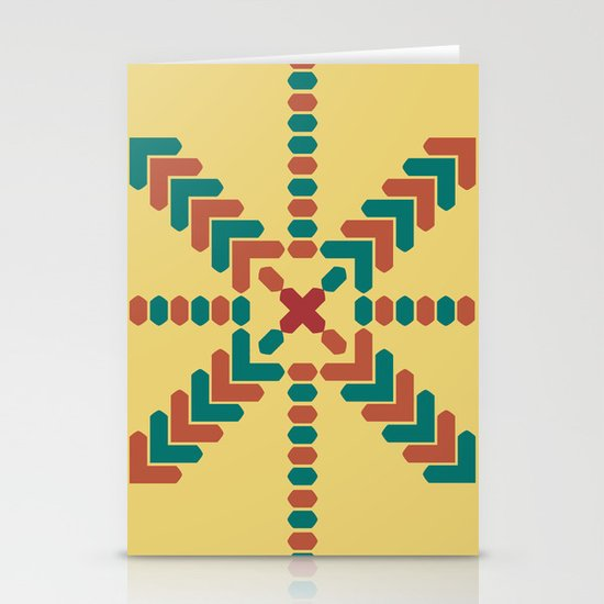X Marks the Center Stationery Cards