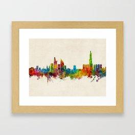 Ho Chi Minh City Saigon Vietnam Skyline Framed Art Print