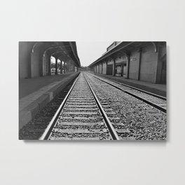 Down the Line Metal Print