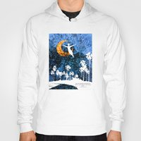 neverland Hoodies featuring Peter Pan flying through Neverland by Chien-Yu Peng