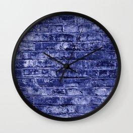 Seamless Background Brick Wall Wall Clock