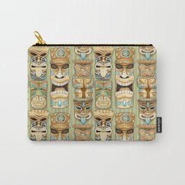 Tropical Hawaiian Deluxe Tiki Party Pattern Carry-All Pouch