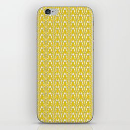 Snow Drops on Mustard Yellow iPhone Skin