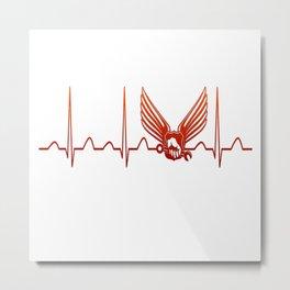 Aircraft Mechanic Heartbeat Metal Print