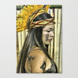 Natural beauty (no retouch) Canvas Print