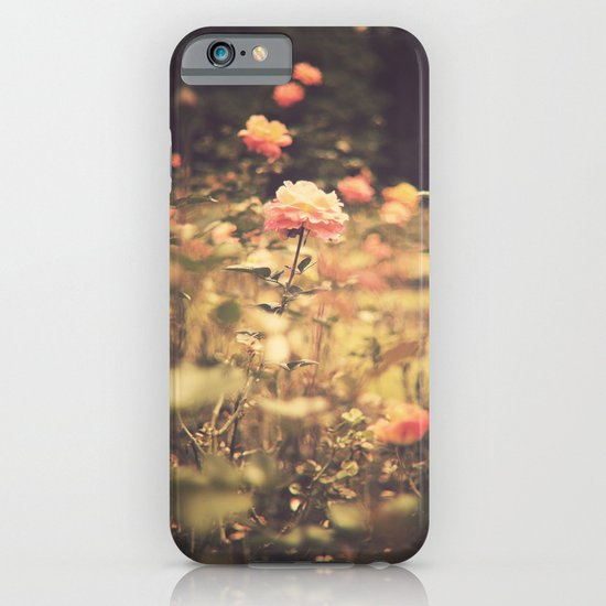 One Rose in a Magic Garden (Vintage Flower Photography) iPhone & iPod Case