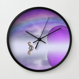 when the moon touched earth -14- Wall Clock