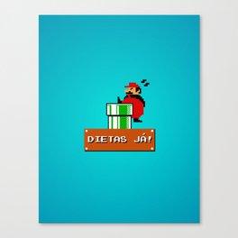 Dietas Já! Canvas Print