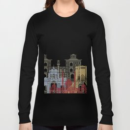 Tehran skyline poster Long Sleeve T-shirt