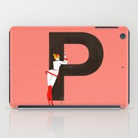 helvetica iPad Cases featuring Patricia & Helvetica by ChicksAndType