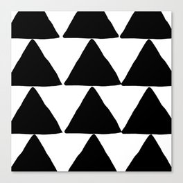 Mountains - Black and White Triangles Canvas Print