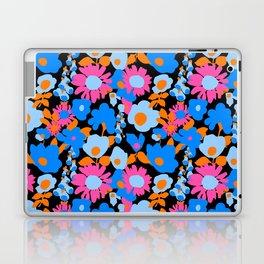 Mod Garden in Black + Orange + Blue Laptop & iPad Skin