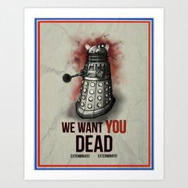 We Want You Art Print