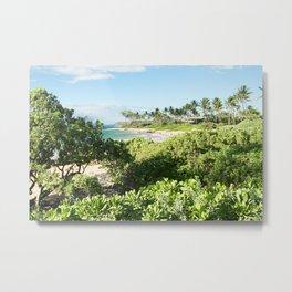 Mokapu Ulua Beach Wailea Maui Hawaii Metal Print