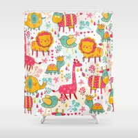 wildlife Shower Curtains featuring Wildlife by One April