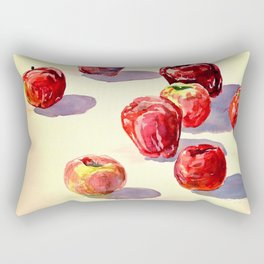 Red Apples watercolor Rectangular Pillow