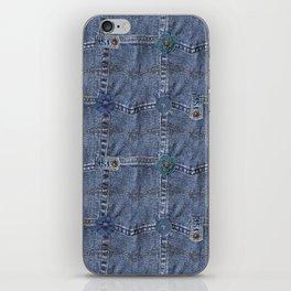Blue Jeans Denim Pocket Patchwork iPhone Skin
