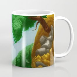 Classical Masterpiece 'Plowing Fields' by Bernard J. Steffen Coffee Mug