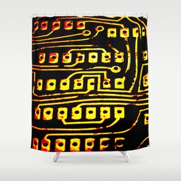Beercan Furnace Shower Curtain