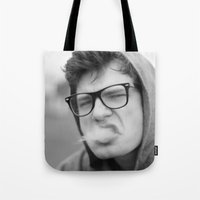 smoking Tote Bags featuring Smoking by Frederic Streminski